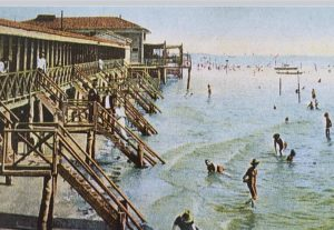 vita di spiaggia al Lido nell'800